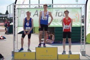 Antoine Schauwers, champion francophone cadet sur 800 m - Photo Myrian Henrotte (Facebook)